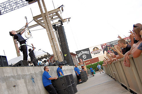 Theory of a Deadman performing at Concrete Street Amphitheater in Corpus Christi, Texas.