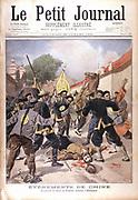 Boxer Rising in China: Assassination of the German Representative, Baron Ketteler, in Beijing (Pekin) . From 'Le Petit Journal', Paris  22 July 1900.