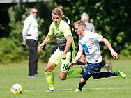 FODBOLD: Benjamin Madsen (LSF) under kampen i Danmarksserien mellem Kastrup Boldklub og Ledøje-Smørum Fodbold den 19. august 2017 på Røllikevej i Kastrup. Foto: Claus Birch