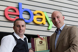 Repro Free: 26/09/2013 Kilkenny today announced it has partnered with eBay, one of the world's largest online marketplaces, allowing Kilkenny to expand into key international markets.  Pictured at the announcement was (Left to right) Greg O'Gorman, Kilkenny Marketing Manager with Colin Creagh, Enterprise and Strategic Acquisition Manager, eBay Europe. The partnership with eBay is an exciting move for Kilkenny, allowing them to expand into key international markets while opening the brand to a wider target audience. Picture Andres Poveda