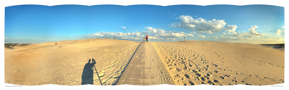 Panoramic photograph of Assateague Island,  Print Size (in inches): 15x5; 24x7.5; 36x11; 48x15; 60x18.5; 72x22.