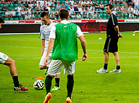 30/07/14 UEFA CHAMPIONS LEAGUE THIRD ROUND QUALIFIER FIRST LEG<br /> LEGIA WARSAW V CELTIC<br /> PEPSI ARENA - WARSAW<br /> Celtic manager Ronny Deila.