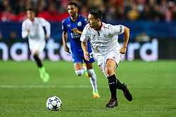 Samir Nasri of Sevilla in action - Rogan Thomson/JMP - 22/02/2017 - FOOTBALL - Estadio Ramon Sanchez Pizjuan - Seville, Spain - Sevilla FC v Leicester City - UEFA Champions League Round of 16, 1st Leg.