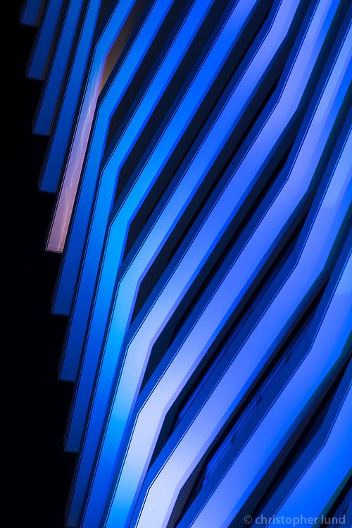 Light is Here - Istanbul Light Festival main piece by Kari Kola. Zorlu Center, Istanbul, Turkey.