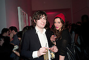 Fionnan Honan; Jessica Warren, Part of the asian film festival. The afterparty following the UK film premiere of 'Norwegian Wood' at the Haunch Of Venison. London. 3 March 2011 -DO NOT ARCHIVE-© Copyright Photograph by Dafydd Jones. 248 Clapham Rd. London SW9 0PZ. Tel 0207 820 0771. www.dafjones.com.