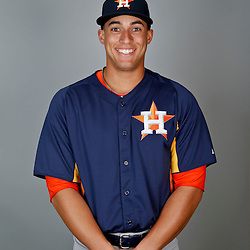 Feb 21, 2013; Kissimmee, FL, USA; Houston Astros outfielder George Springer during photo day at Osceola County Stadium. Mandatory Credit: Derick E. Hingle-USA TODAY Sports