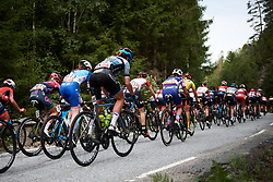 The peloton approach the top of the categorised climb at Ladies Tour of Norway 2018 Stage 3. A 154 km road race from Svinesund to Halden, Norway on August 19, 2018. Photo by Sean Robinson/velofocus.com