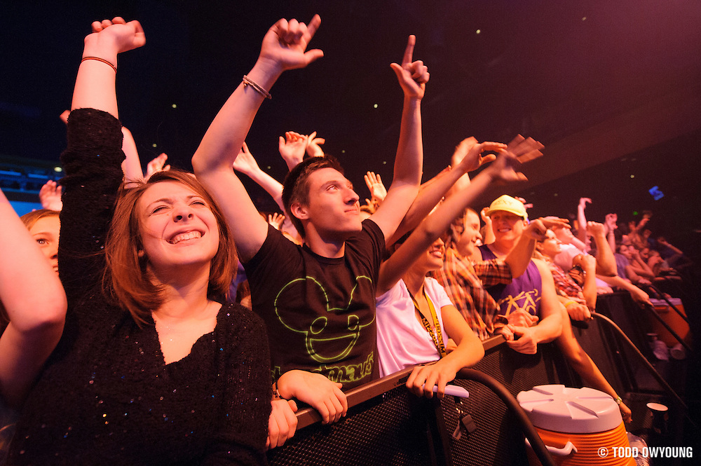 Fans during AVICII's performance at The Pageant in St. Louis, Missouri on January 10, 2012.