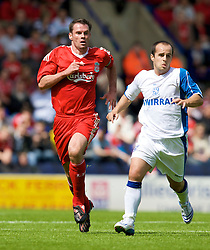 BIRKENHEAD, ENGLAND - Saturday, July 12, 2008: Liverpool's Jamie Carragher during his side's first pre-season match of the 2008/2009 season against Tranmere Rovers at Prenton Park. (Photo by David Rawcliffe/Propaganda)
