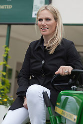 © Licensed to London News Pictures. 20/05/2013. London, England. Zara Phillips.at the John Deere stand. Celebrities at Press Day Monday of the RHS Chelsea Flower Show. Photo credit: Bettina Strenske/LNP