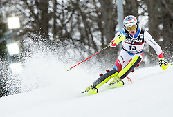 "Daniel Yule (SUI) competes during 1st Run of FIS Alpine Ski World Cup 2017/18 Men's Slalom race named ""Snow Queen Trophy 2018"", on January 4, 2018 in Course Crveni Spust at Sljeme hill, Zagreb, Croatia. Photo by Vid Ponikvar / Sportida"