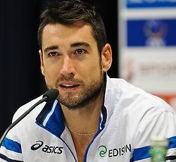 17.09.2011, Stadthalle, Wien, AUT, CEV, Europaeische Volleyball Meisterschaft 2011, Halbfinale, Italien vs Polen, im Bild Cristian Savani, (ITA, #11, Wing-Spiker) // during the european Volleyball Championship Semi Final Italy vs Poland, at Stadthalle, Vienna, 2011-09-17, EXPA Pictures © 2011, PhotoCredit: EXPA/ M. Gruber