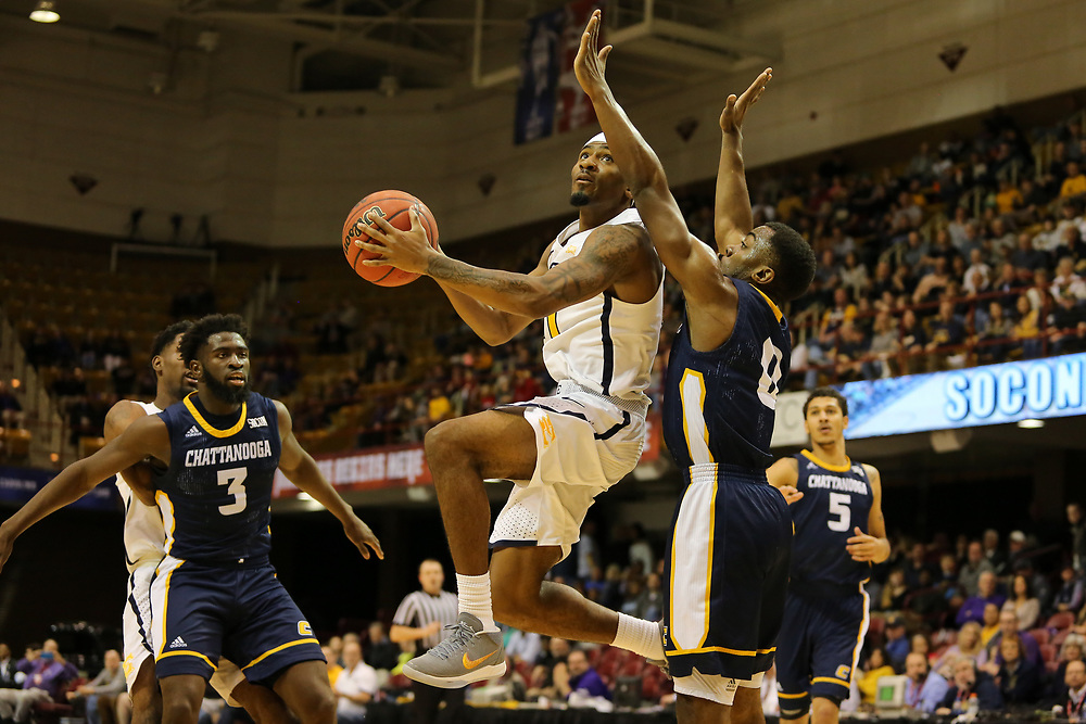 March 3, 2018 - Asheville, North Carolina - U.S. Cellular Center: ETSU guard Devontavius Payne (11)<br /> <br /> Image Credit: Dakota Hamilton/ETSU