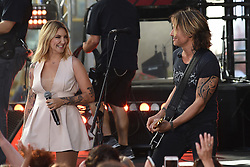 August 2, 2018 - New York, NY, USA - August 2, 2018 New York City..Julia Michaels and Keith Urban performing on NBC's Today Show at Rockefeller Plaza on August 2, 2018 in New York City. (Credit Image: © Kristin Callahan/Ace Pictures via ZUMA Press)