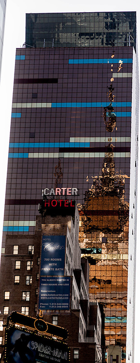 New York -the Westin hotel tower and eleven times square tower , in times square