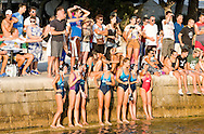 Water polo match, women's final, in the evening on the waterfront in Zadar, Croatia (Saturday 11 August 2012)