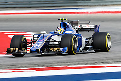 October 20, 2017 - Austin, Texas, U.S - Pascal Wehrlein of Germany (94) in action before the Formula 1 United States Grand Prix race at the Circuit of the Americas race track in Austin,Texas. (Credit Image: © Dan Wozniak via ZUMA Wire)