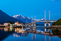 John O'Connell Bridge, on the harbor in Sitka, Alaska USA.