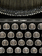 close up of an antique typewriter