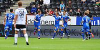 Fotball Menn Eliteserien Rosenborg-Tromsø<br /> Lerkendal Stadion,Trondheim<br /> 10 august 2019<br /> <br /> Robert Taylor har scoret og reduset for Tromsø og blir gratulert av Magnus Andersen<br /> <br /> <br /> Foto : Arve Johnsen, Digitalsport