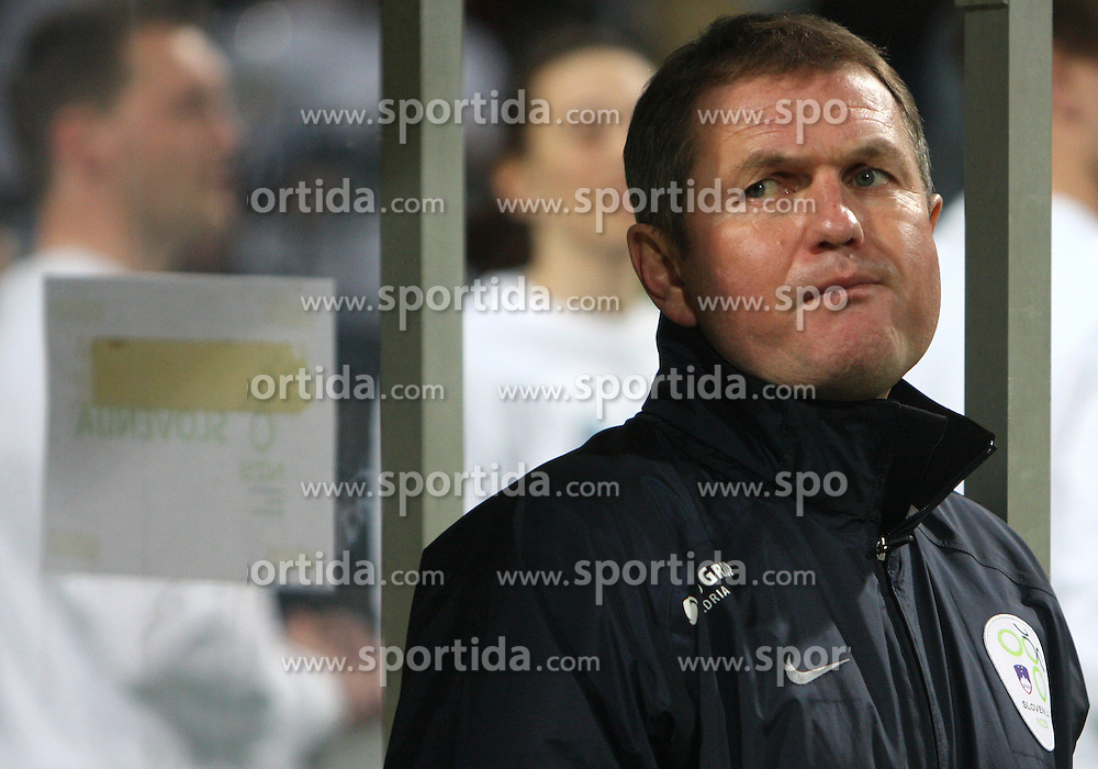 Head coach of Slovenia Matjaz Kek at  the 8th day qualification game of 2010 FIFA WORLD CUP SOUTH AFRICA in Group 3 between Slovenia and Czech Republic at Stadion Ljudski vrt, on March 28, 2008, in Maribor, Slovenia. Slovenia vs Czech Republic 0 : 0. (Photo by Vid Ponikvar / Sportida)