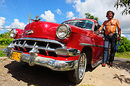 Man with his Chevrolet San Cristobal, Artemisa, Cuba.