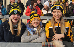 Louisburgh supporters at the Connacht Junior final Aoife Conway, Amy Kerrigan and Chloe Nugent<br /> Pic Conor McKeown