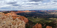 Looking along the Pink Cliffs and Dixie National Forest from Rainbow Point in Bryce Canyon National Park, Utah