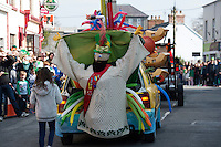 Bak of a float at the the St. Patrick's Day Parade in Kinvara Co. Galway. Photo:Andrew Downes, xposure.