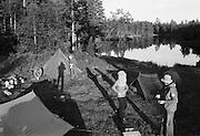 Tältläger i Jukkasjärvi