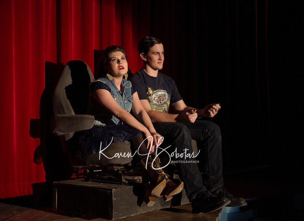 "Laconia High School drama ""Dearly Departed"" dress rehearsal March 4, 2015.  Karen Bobotas for the Laconia Daily Sun"