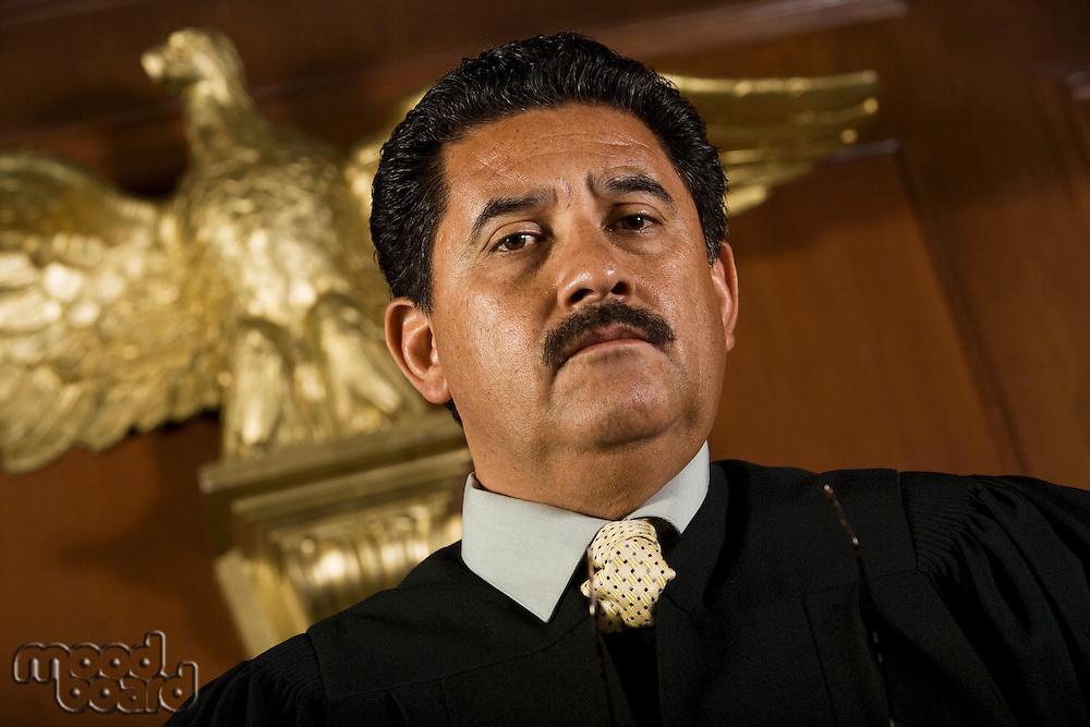 Judge in court, portrait