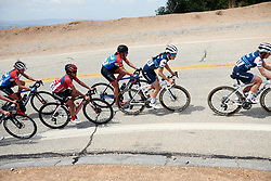Lizzie Deignan (GBR), Lisa Brennauer (GER) and Coryn Rivera (USA) on the first climb at Amgen Tour of California Women's Race empowered with SRAM 2019 - Stage 2, a 74 km road race from Ontario to Mount Baldy, United States on May 17, 2019. Photo by Sean Robinson/velofocus.com