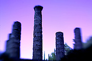 Temple of Apollo, Delphi, Greece, at twilight