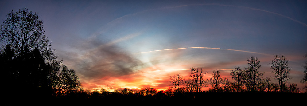 Colorful Clouds at Dawn. Composite of three images taken with a Leica TL camera and 11-23 mm lens (ISO 100, 11 mm, f/3.5, 1/250 sec). Raw images processed with Capture One Pro and the composite generated with AutoPano Giga Pro.