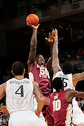 January 27, 2013: Michael Ojo #50 of Florida State in action during the NCAA basketball game between the Miami Hurricanes and Florida State Seminoles at the BankUnited Center in Coral Gables, FL. The Hurricanes defeated the Seminoles 71-47.