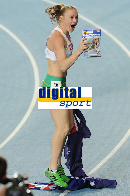 ATHLETICS - IAAF WORLD CHAMPIONSHIPS 2011 - DAEGU (KOR) - DAY 8 - 03/09/2011 - PHOTO : STEPHANE KEMPINAIRE / KMSP / DPPI - <br /> 100 M HURDLES - WOMEN - FINAL - WINNER - GOLD MEDAL - SALLY PEARSON (AUS)