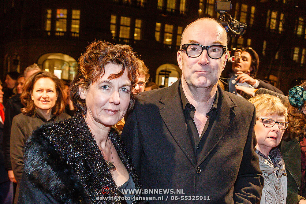 NLD/Amsterdam/20160311 - Inloop Boekenbal 2016, Bart Chabot en partner Jolanda van den Burg
