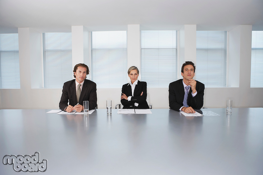 Business Executives Sitting in Conference Room