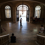 Entrance to the Museum of the Revolution, Havana's most famous museum is located in the former presidential palace of the 1950's dictator Fulgencio Batista. Following the 1959 Revolution, it was converted into a museum celebrating the Cuban Revolution. Photography by Jose More