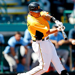 February 25, 2011; Bradenton, FL, USA; Pittsburgh Pirates infielder Pedro Alvarez (24) during a spring training exhibition game against the State College of Florida Manatees at McKechnie Field. The Pirates defeated the Manatees 21-1. Mandatory Credit: Derick E. Hingle
