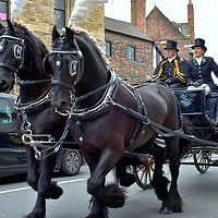 Horse-drawn Carriage Ride in York, England<br /> There is something nostalgic about a team of Friesian horses proudly clopping through a city led by a coachman and footman dressed in Victorian livery with top hats. The experience is available to sightseers and also offered by funeral directors in York.  The ride is especially magical and romantic if you are surrounded by flowers after exchanging vows in York Minster.