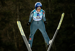 Carina Vogt of Germany soaring through the air during 1st Round at Day 1 of World Cup Ski Jumping Ladies Ljubno 2019, on February 8, 2019 in Ljubno ob Savinji, Slovenia. Photo by Matic Ritonja / Sportida