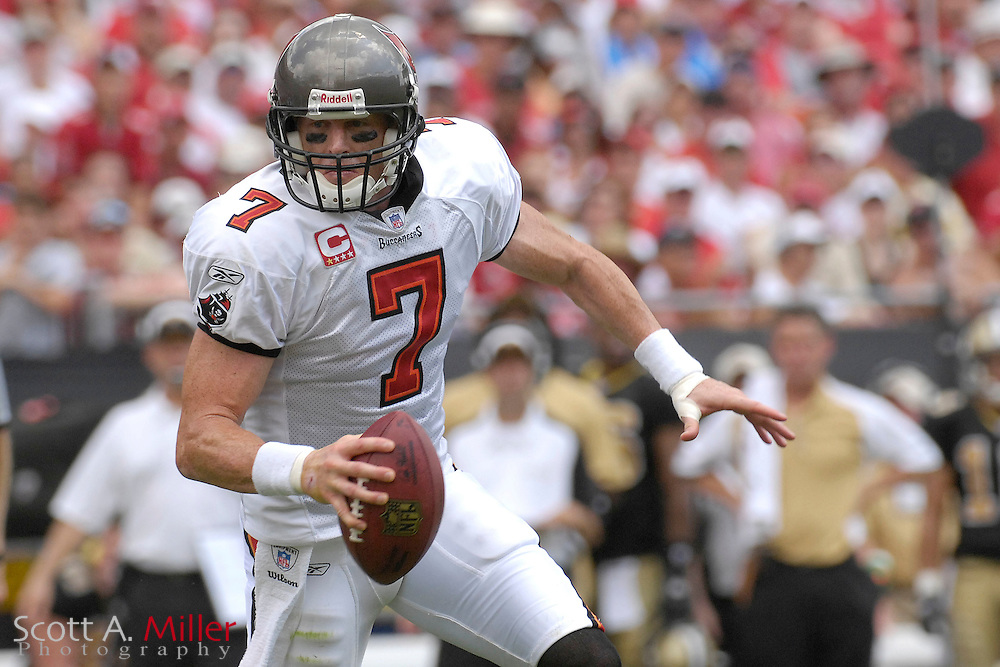 September 16, 2007; Tampa, FL, USA; Tampa Bay Buccaneers quarterback (7) Jeff Garcia during his team's game against the New Orleans Saints  at Raymond James Stadium. Tampa Bay won the game 31-14....©2007 Scott A. Miller