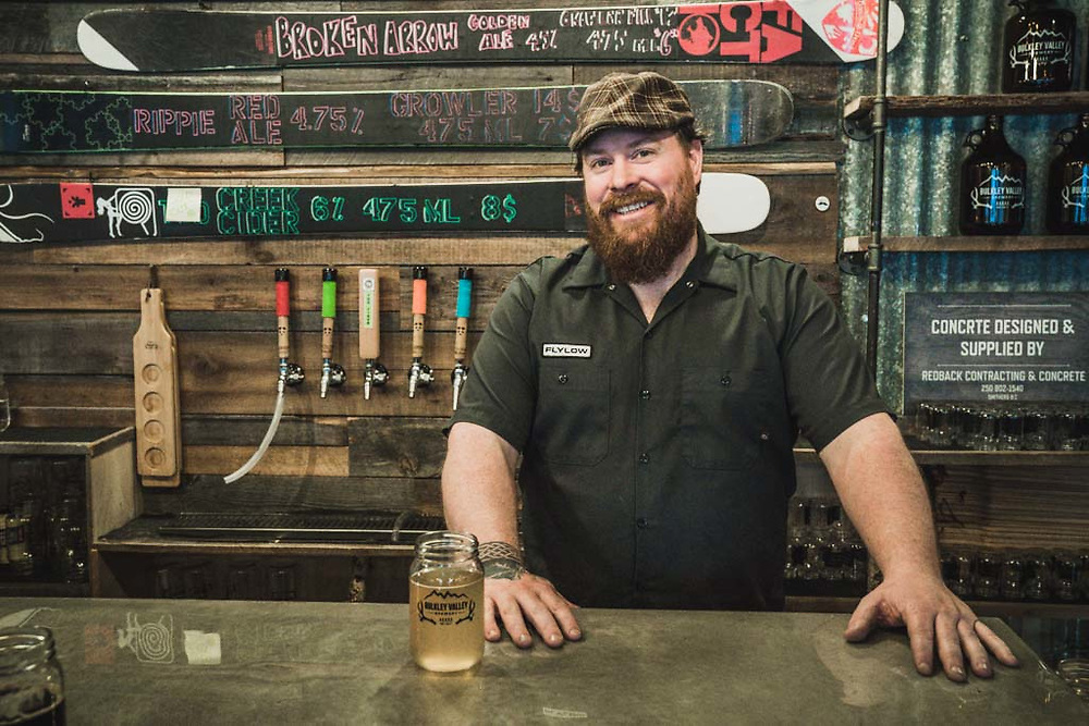 """What'll it be?"" Dave Harris, owner and barkeep of Bulkley Valley Brewery, Smithers, BC."
