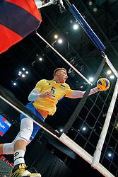 13-09-2019 NED: EC Volleyball 2019 Czech Republic - Ukraine, Rotterdam<br /> First round group D / Oleh Plotnytskyi #5 of Ukraine