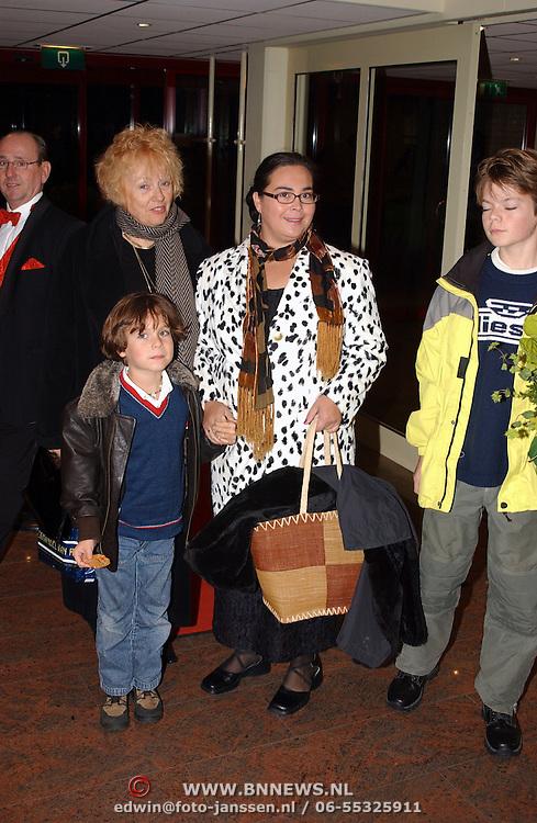Premiere musical Sinatra Bussum, Marjan Berk en familie