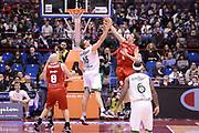 DESCRIZIONE : Milano Coppa Italia Final Eight 2013 Quarti di Finale Montepaschi Siena Trenkwalder Reggio Emilia<br /> GIOCATORE : Michele Antonutti Luca Lecktaler<br /> CATEGORIA : stoppata rimbalzo<br /> SQUADRA : Trenkwalder Reggio Emilia Montepaschi Siena<br /> EVENTO : Beko Coppa Italia Final Eight 2013<br /> GARA : Montepaschi Siena Trenkwalder Reggio Emilia<br /> DATA : 08/02/2013<br /> SPORT : Pallacanestro<br /> AUTORE : Agenzia Ciamillo-Castoria/C.De Massis<br /> Galleria : Lega Basket Final Eight Coppa Italia 2013<br /> Fotonotizia : Milano Coppa Italia Final Eight 2013 Quarti di Finale Montepaschi Siena Trenkwalder Reggio Emilia<br /> Predefinita :