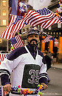 New York.  american flag and nationalists symbols in the streets .  New York  Usa /   drapeau americain et symboles nationalistes   New York  USa