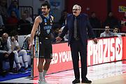 Sacchetti Romeo Meo Ricci Giampaolo<br /> Vanoli Cremona - Dolomiti Energia Trento<br /> Lega Basket Serie A 2018/2019<br /> Reggio Emilia, 20/01/2019<br /> Foto A.Giberti / Ciamillo - Castoria